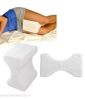 CONTOUR MEMORY FOAM LEG PILLOW ORTHOPAEDIC FIRM BACK HIPS & KNEE SUPPORT + COVER by Top Home Solutions