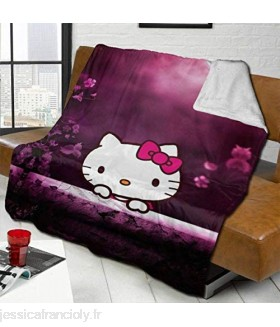 jichuang Couverture Polaire Hello Kitty on The Moon Ultra Soft for All Season Throw60 X50