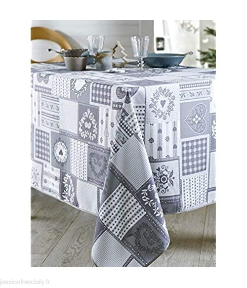 CALITEX Nappe Rectangulaire Polyester Gris 150x200 cm